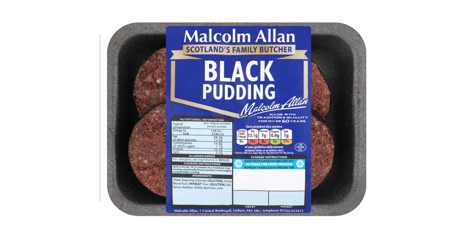 Black Pudding sliced