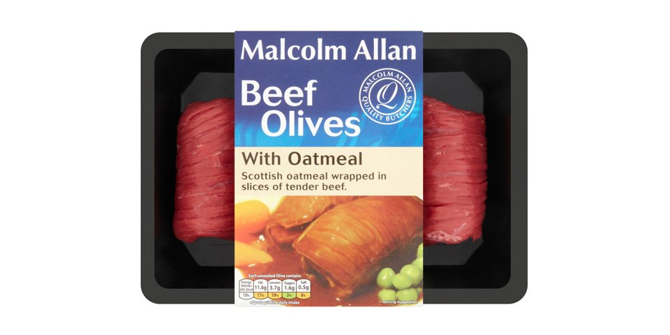 Beef Olives with Oatmeal