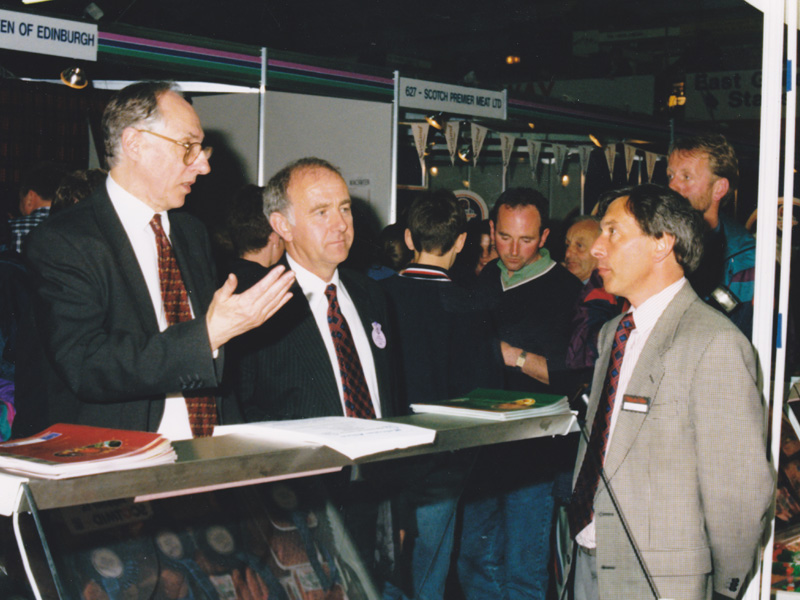 Gordon Allan talking to Donald Dewar at the Highland Show - 1998