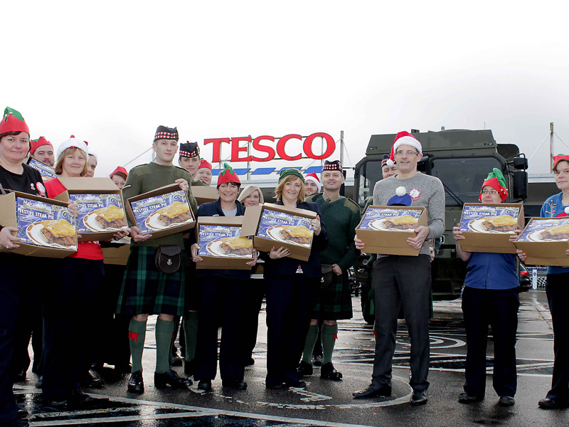 As a Christmas treat we donated 100 steak pies to the Highlanders 4th Battalion the Royal Regiment of Scotland based at Catterick