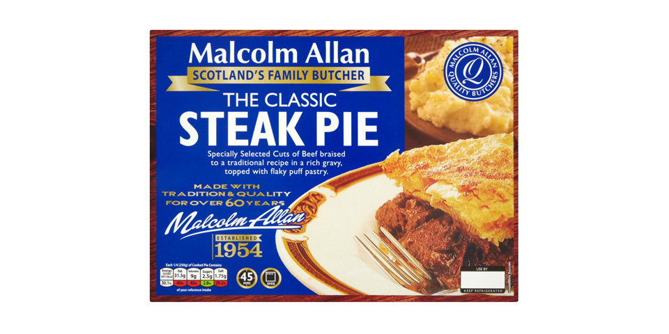 Malcolm Allan Classic Steak Pie