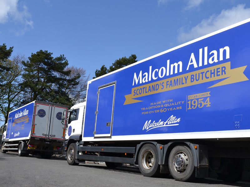 Our Malcolm Allan delivery trucks