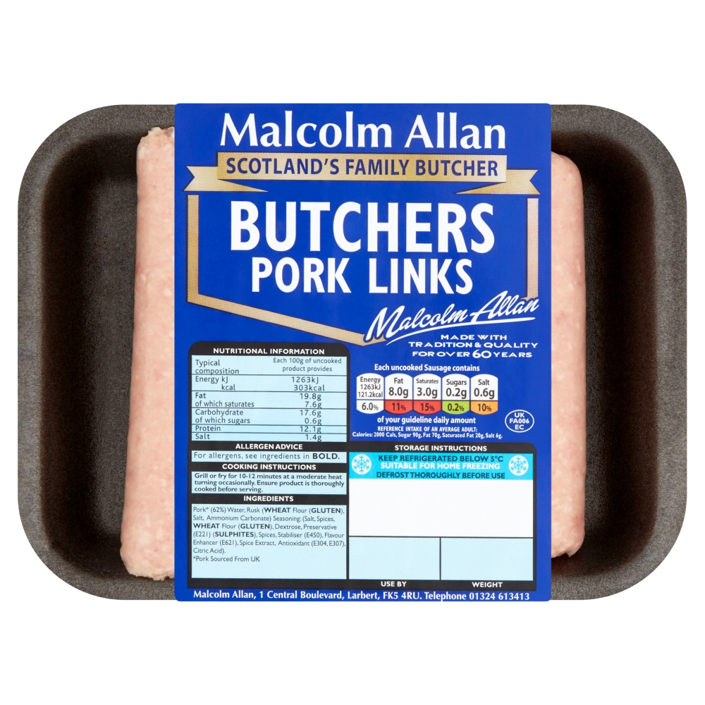 200g butchers pork links