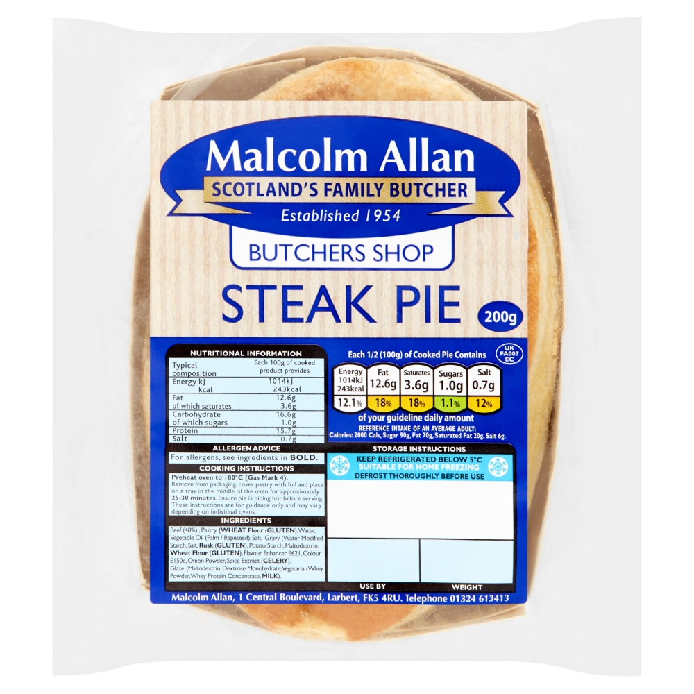 Butchers Shop Steak Pie 200